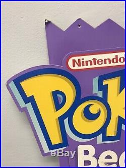 Scarce 1995 Pokemon KFC Plush Beanie Gameboy Store Display With Beanies Rare
