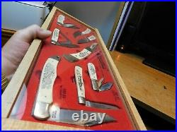 Schrade USA 1982. Rarescrimshaw Knife Setmom & Pop Store Counter Display