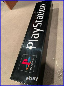 Sony Playstation PS1 RARE vintage light up video game sign works GREAT nice cond