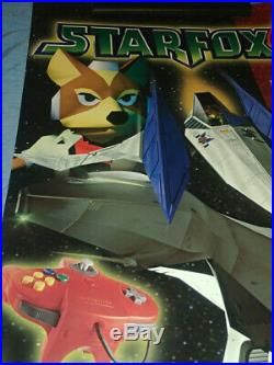 Star Fox 64 N64 Vintage Rare Promo Large Store Display Poster 1997 (19inx27in)