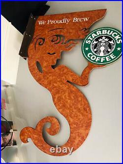 Starbucks Sign Starbucks Shop Display Advertising Sign Rare Promo In Store Cool