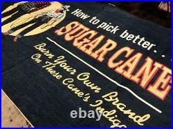 Sugar Cane Vintage Denim Banner Advertisement Rare from Japan Free Shipping