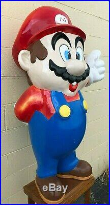Super Mario Bros Life Size Statue Figure Store Display Nintendo RARE