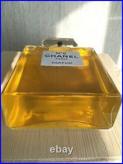Super Rare Giant Glass Factice Chanel 5 Store Display (2 Liters)