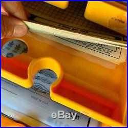 TWO Rare Vintage Letraset 5 Drawer Storage Cabinets/Case 120+ transfer sheets