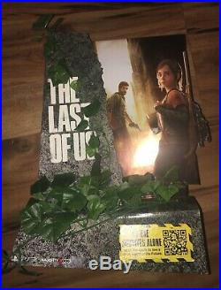 The Last of Us Joel and Ellie Rare Counter Top Standee Store Display