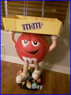 The RARE Red M&M Character on Wheels Giant Candy Store Display Collectible 3'4