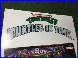 Tmnt Turtles IV Turtles In Time Konami Super Nintendo Store Display Promo Rare