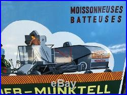 Tres Rare Plaque Emaillee Bolinder Munktell Moisseunneuse Batteuses Tracteur