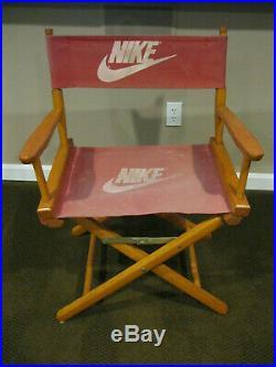 ULTRA RARE Cool Vintage 1980s Nike Director Chair Store Display Pre Air Jordan