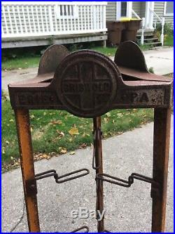 Ultra Rare Authentic Vintage Griswold Store Display rack 50 Tall Rustic
