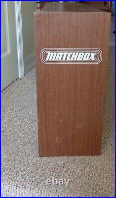 VINTAGE 1960's LESNEY MATCHBOX STORE DEALER DISPLAY CASE HOLDS 81 CARS RARE