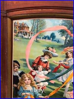 VINTAGE RARE MINT c. 1904 TIN LITHOGRAPHED GOVERNESS DIAMOND DYE BOX CABINET