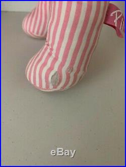 VS Victorias Secret Pink Store Display Dog White and Pink Stripes RARE (27x16x6)