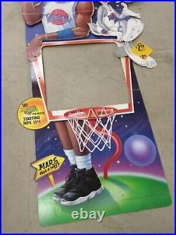 VTG 90s Michael Jordan Space Jam McDonalds Happy Meal Toy Store Display 6ft RARE