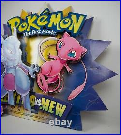VTG Pokemon The First Movie Store Theater Display RARE Nintendo Warner Brothers