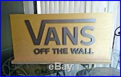 Vans Off the Wall Big In-Store Wooden Display Sign RARE! Warped Tour Skater
