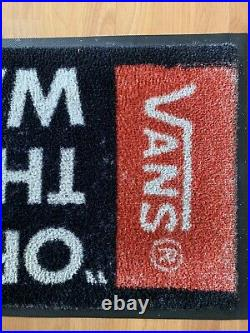 Vans Skateboard Floor Mat Off The Wall Rare Excellent Condition