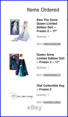 Very Rare Disney Store Display, Disney Frozen 2 Limited Edition Dolls, Olaf Key