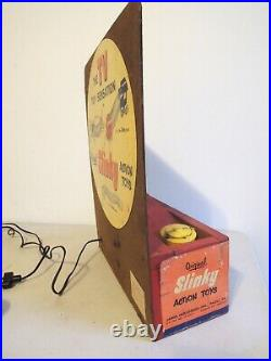 Very Rare Vintage Mechanical Slinky Store Display Early 1950s Great Advertising
