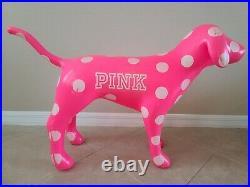 Victoria Secret Pink Polka Dot Dog Store Display Large Over 2 Feet Tall RARE