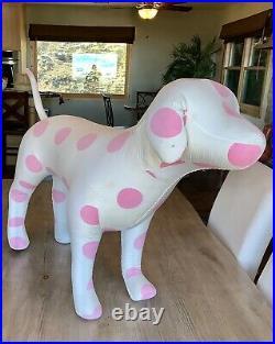 Victoria's Secret PINK Giant Store DISPLAY DOG Polka Dot VS RARE! RETIRED