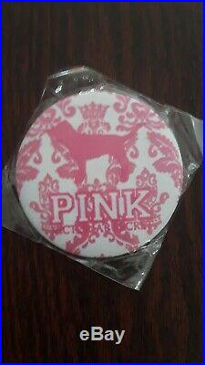 Victoria's Secret Pink (3) Rare Htf Round Dog Buttons Mirrors Collectibles