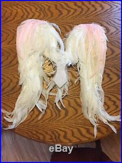 Victorias Secret Store Display Angel Wings Feathers Pink Glitter Prop Rare