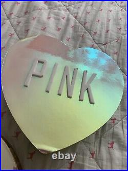 Victorias Secret VS PINK Holographic Store Display Pup Dog Hearts! Cute! Rare
