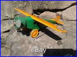 Vintage 1929 Steelcraft Army Scout Plane NX-107 RARE STORE DISPLAY Electrified