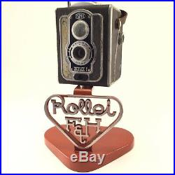Vintage 1950s Rollei Rolleiflex Camera Store Display Rarely Seen