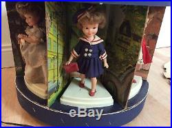 Vintage 1960s Penny Brite Doll Store Display Carousel with7 Dolls Topper Toys Rare