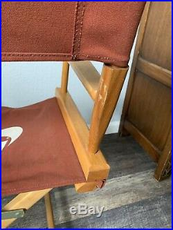 Vintage 1980s Nike Rare Maroon Canvas Directors Chair Store Display