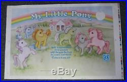 Vintage 1983 Hasbro MY LITTLE PONY STORE DISPLAY PRINTER PROOF Very very rare