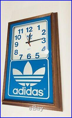 Vintage Adidas Display Clock 1980s Adidas Clock Rare Vtg Adidas Store Display