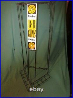 Vintage Daisy BB Guns Metal 29 Tall Store Display Rack with Target Logos Rare
