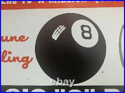 Vintage Magic 8 Ball Advertising Poster Sign Store Display Rare