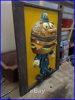 Vintage McDonald's RARE Officer Big Mac Statue Figure Store Display