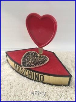 Vintage Moschino Display Stand Valentines Day Heart Piece Rare Moschino DISPLAY