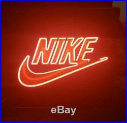 Vintage Nike 1990s Neon Light Display Sign Signage Swoosh Authentic Rare Mancave