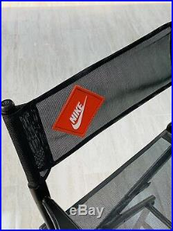 Vintage Nike Directors Chair Store Display, Rare Advertising, Mesh & Black Wood
