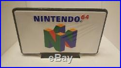Vintage Nintendo N64 Retail Store RARE DISPLAY SIGN Double-Sided NES UNDERNEATH