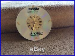 Vintage Pioneer Electronics 8 Laserdisc Clock Extremely Rare