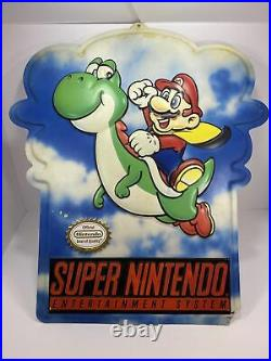 Vintage Rare large store display sign original Nintendo Super Mario Bros Yoshi
