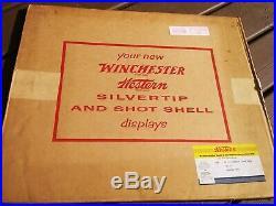 Vintage Winchester Western Cardboard counter display Rare Silvertip NOS 1958