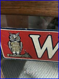 Vintage Wise Potato Chips Advertising Display Case Wood And Glass Rare