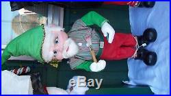 Vintage animated mechanical store display elf 44 inches tall very rare