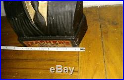 Vintage rare advertising Teacher's Scotch whiskey store bust display sign