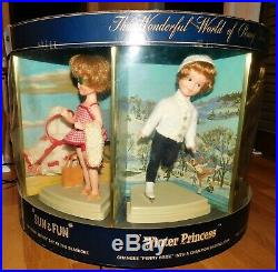 Vtg 1960'S Deluxe Reading Topper PENNY BRITE 7 Doll Store Display Carousel RARE
