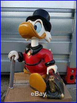 Walt Disney Scrooge McDuck mid big fig vintage rare figure statue store display